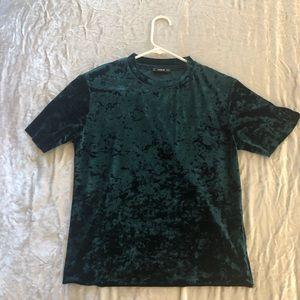 Tops - green velvet top